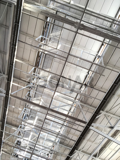 roof of large modern storehouse