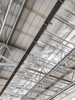 metal roof of industrial building