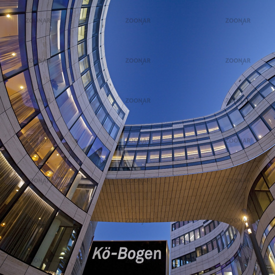 Office and commercial building Koe-Bogen, Duesseldorf, North Rhine-Westphalia, Germany, Europe