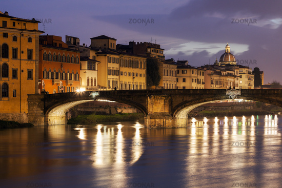 Holy Trinity Bridge in Florence