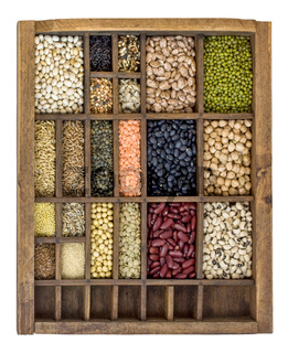 beans, grains and seeds collection