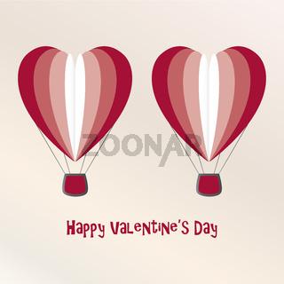 Heart shaped flying balloon