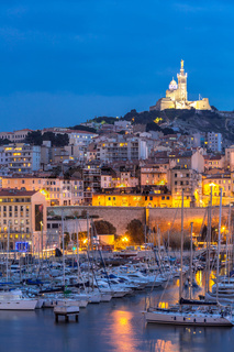 Marseille France night