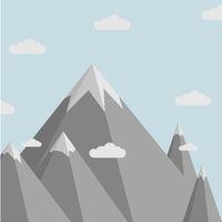 minimalistic Mountain scenery