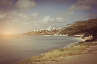 Blurred Beach with Vintage Filter