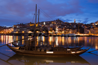City of Porto by Night in Portugal
