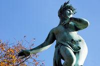 The famous Galatea fountain in Stuttgart - Detail