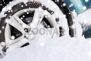 closeup of car wheel