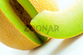 Melon honeydew and melon slice