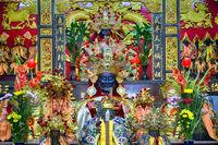 Altar in a Taoist temple, Taipei - Taiwan.
