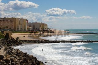 Der Strand in Cadiz. Andalusien