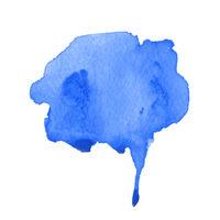 Wet blue watercolour