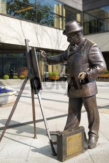 Statue Ignác Roskovics Hungarian Painter