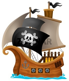 Pirate ship topic image 1 - picture illustration.