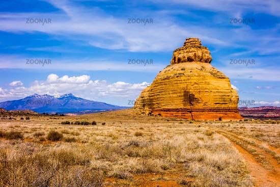 Church rock US highway 163 191 in Utah east of Canyonlands National Park