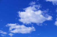 Beautiful white clouds on blue sky background