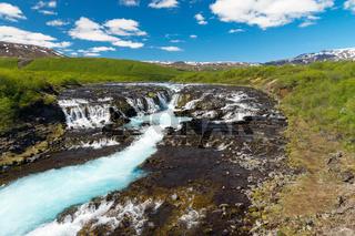 Der Bruarfoss Wasserfall in Island