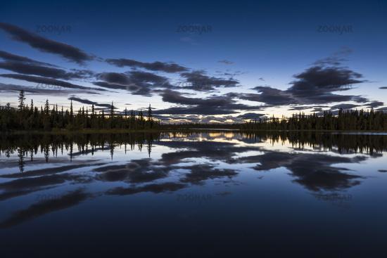 moonlit landscape, Lapland, Sweden