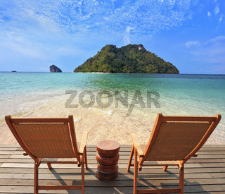 Romantic corner on the beach