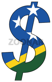 dollar - flag of salomons island