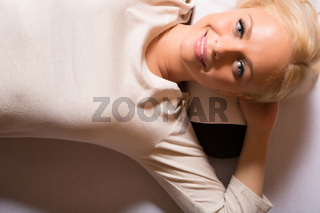 A young woman relaxing in a Spa