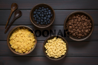 Breakfast Cereals with Blueberries