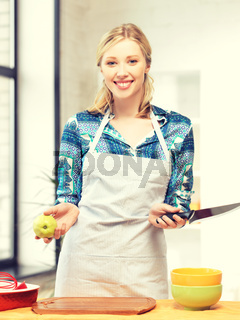 beautiful woman in the kitchen