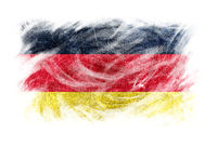 Germany flag blackboard chalk erased isolated