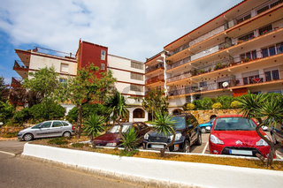 ordinary apartment building in the Catalan town of Tossa de Mar
