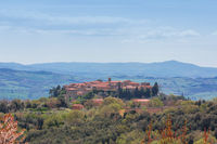 Village of st angelo in colle in tuscany