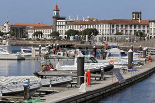 Harbour and historic city of Ponta Delgada, Azores