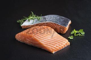 Salmon Filet on a Slab of Slate