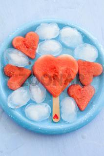 Wassermelone in Herzform