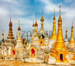 Thaung Tho Temple on Inle Lake. Myanmar.