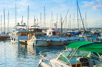 Cannes harbor, France