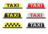 Various Taxi Signs