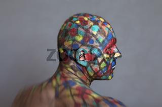 Colorful Superhero profile