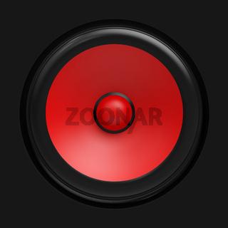 Big red speaker
