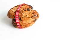 Cookies on white with ribbon with made with love