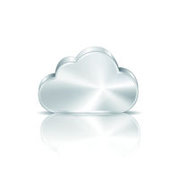 Metal cloud icon on white background