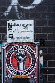 Plakatieren verboten im Schanzenviertel, Hamburg