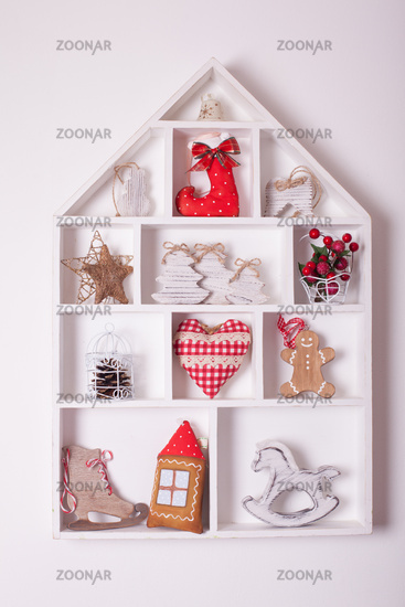 Christmas decorations on the wall