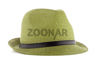 Green straw hat