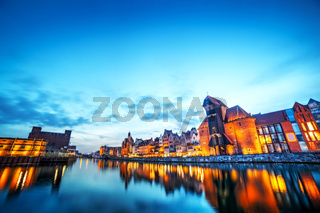 Gdansk old town and famous crane
