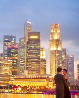 Romantic couple in Singapore
