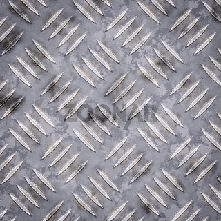 Seamless metal diamond texture background