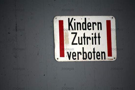forbidden to children