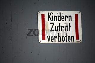 Kindern verboten