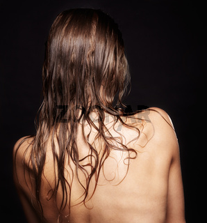 Woman from back side