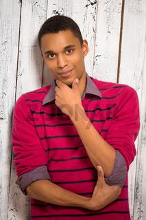 Handsome young man in studio